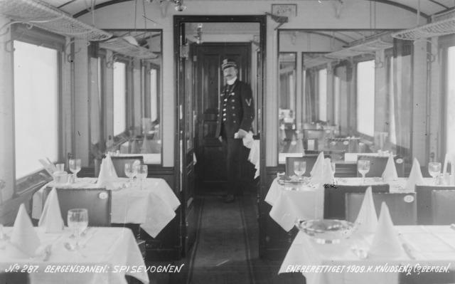 Spisevogn Bergensbanen 1909